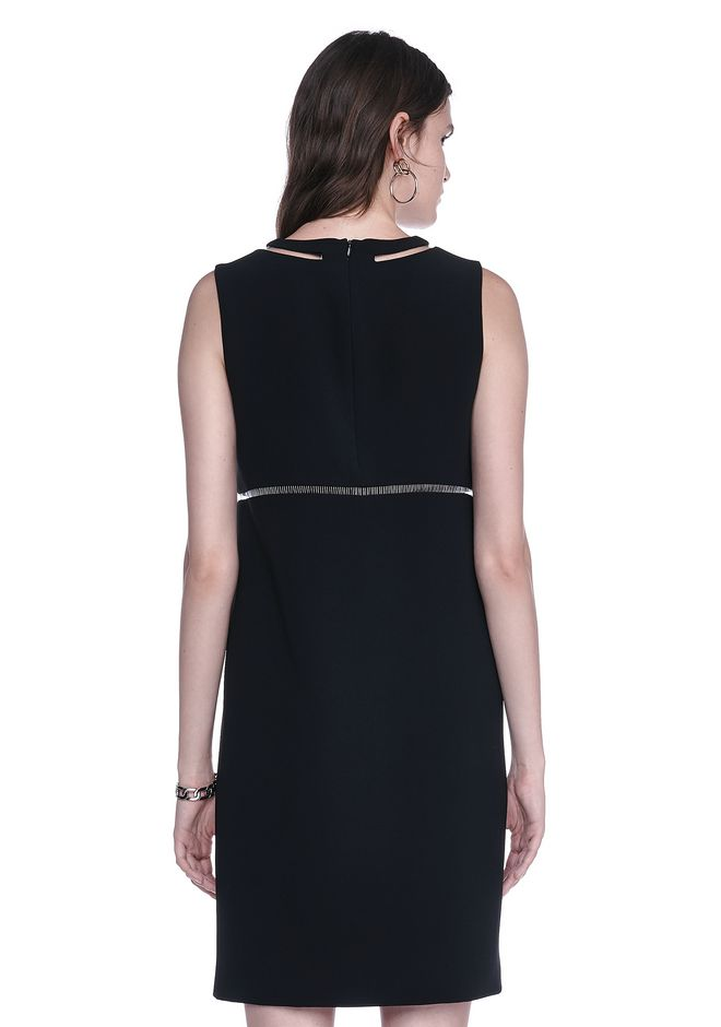 ALEXANDER WANG FISH LINE STRAIGHT CUT DRESS  Short Dress Adult 12_n_d