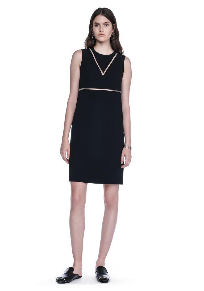 ALEXANDER WANG FISH LINE STRAIGHT CUT DRESS  Short Dress Adult 12_n_f