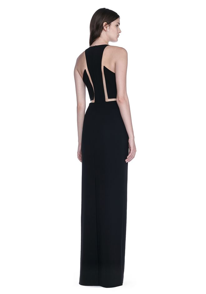 ALEXANDER WANG slrtwdr V-NECK FISHLINE GOWN