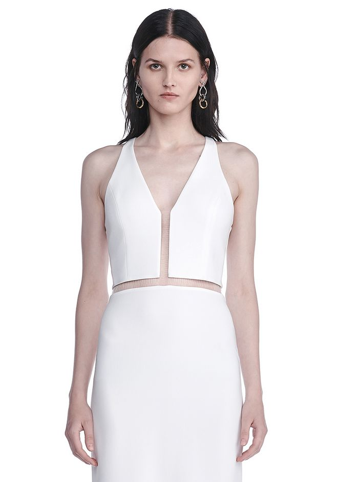 ALEXANDER WANG V-NECK FISHLINE GOWN Long dress Adult 12_n_a