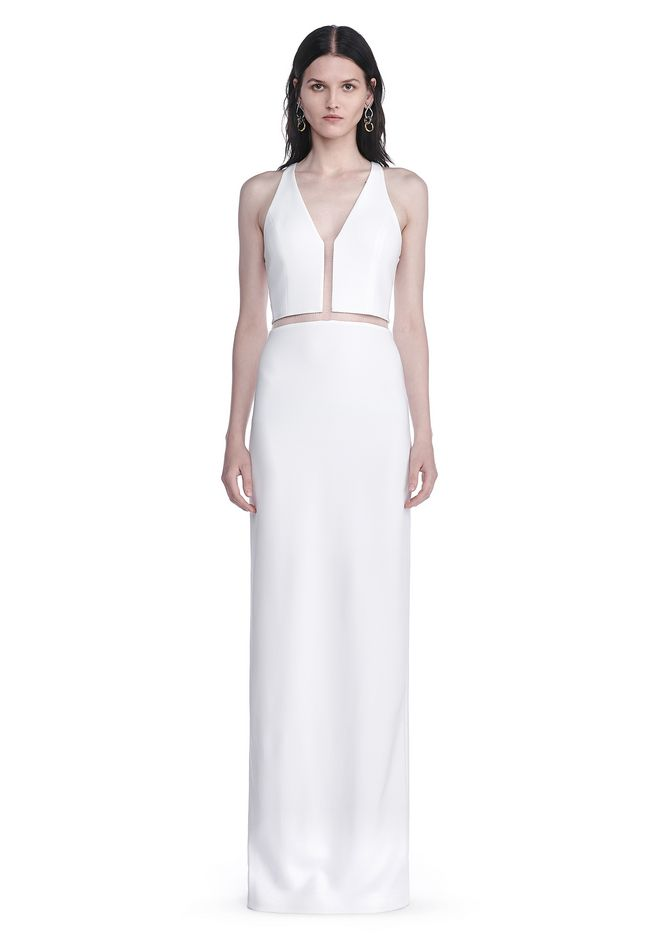 ALEXANDER WANG V-NECK FISHLINE GOWN Long dress Adult 12_n_e