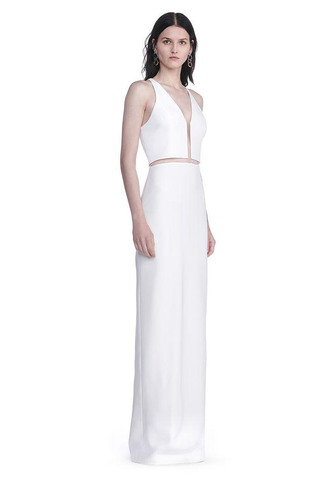 ALEXANDER WANG V-NECK FISHLINE GOWN Long dress Adult 12_n_f
