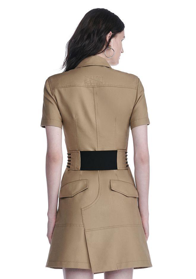 ALEXANDER WANG SHORT SLEEVE SAFARI DRESS Short Dress Adult 12_n_d