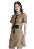 ALEXANDER WANG SHORT SLEEVE SAFARI DRESS Short Dress Adult 8_n_a