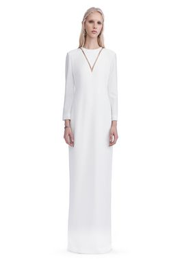 EXCLUSIVE LONG SLEEVE FISH LINE GOWN