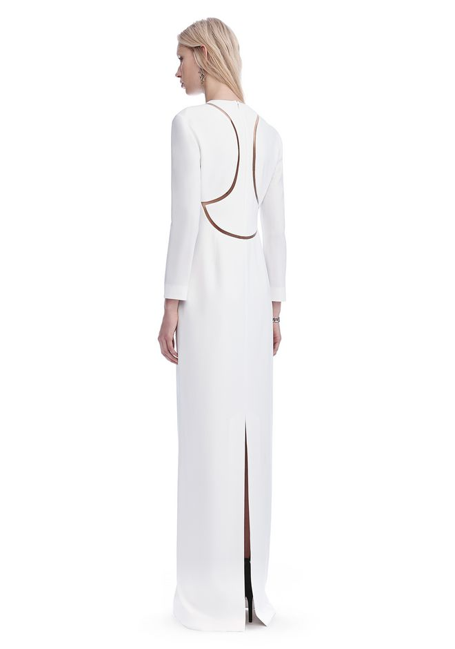ALEXANDER WANG EXCLUSIVE LONG SLEEVE FISH LINE GOWN  Long dress Adult 12_n_d