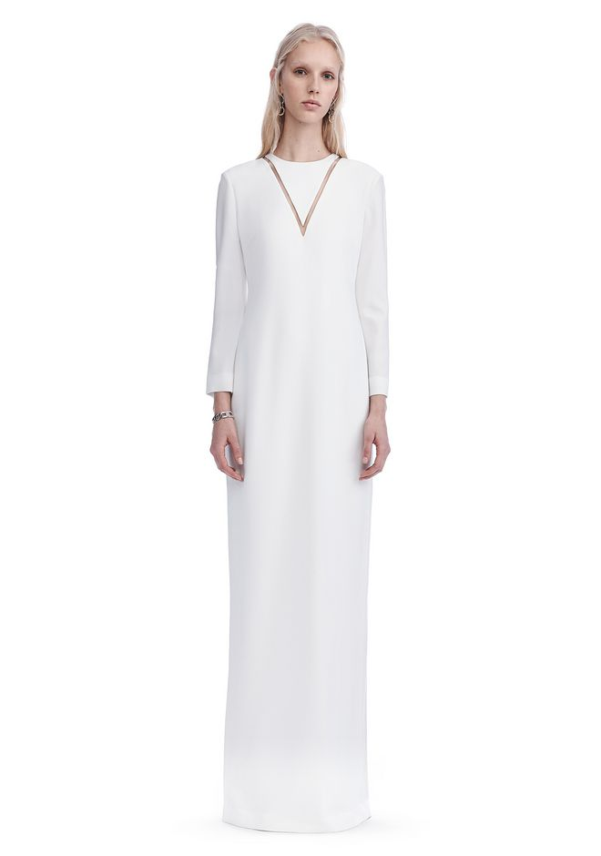ALEXANDER WANG EXCLUSIVE LONG SLEEVE FISH LINE GOWN  Long dress Adult 12_n_e