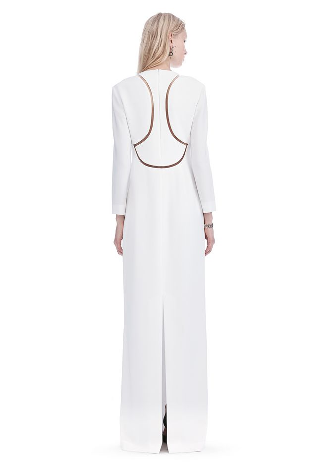 ALEXANDER WANG EXCLUSIVE LONG SLEEVE FISH LINE GOWN  Long dress Adult 12_n_r