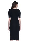 ALEXANDER WANG CREW NECK TEE DRESS WITH PIERCED SLEEVES 3/4 length dress Adult 8_n_d