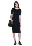 ALEXANDER WANG CREW NECK TEE DRESS WITH PIERCED SLEEVES 3/4 length dress Adult 8_n_f