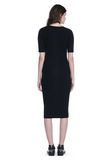 ALEXANDER WANG CREW NECK TEE DRESS WITH PIERCED SLEEVES 3/4 length dress Adult 8_n_r
