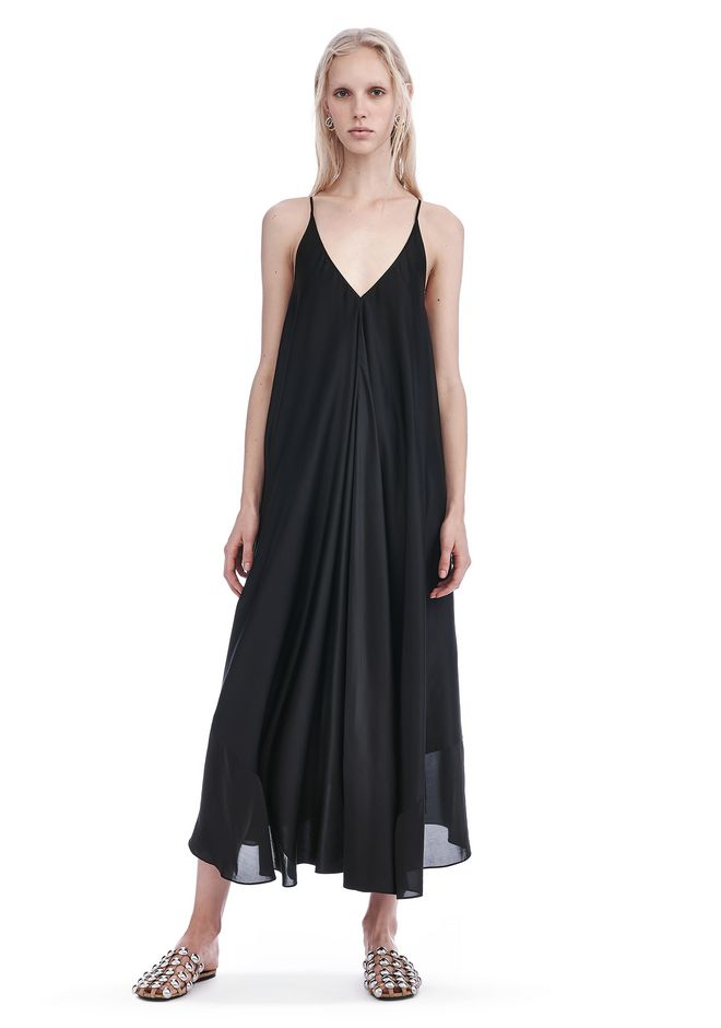 Dress for Women, Evening Cocktail Party On Sale, Black, Cotton, 2017, 10 Alexander Wang