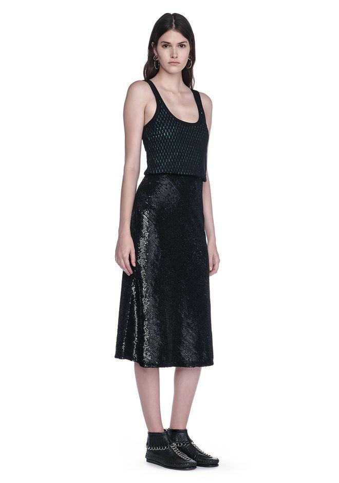 Womens Blouson Sequin Tank Dress Alexander Wang qmzqAaT