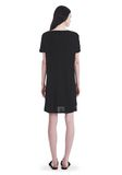 T by ALEXANDER WANG CLASSIC BOATNECK DRESS WITH POCKET Short Dress Adult 8_n_r
