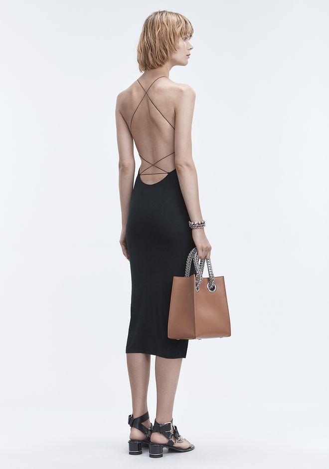 T by ALEXANDER WANG EXCLUSIVE CRISS-CROSS STRAP MIDI DRESS 长款连衣裙 Adult 12_n_f