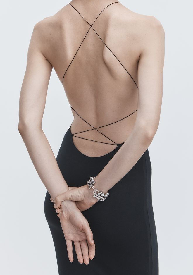 T by ALEXANDER WANG EXCLUSIVE CRISS-CROSS STRAP MIDI DRESS 长款连衣裙 Adult 12_n_r