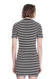 T by ALEXANDER WANG STRIPED VELOUR MOCK NECK MINI DRESS Short dress Adult 8_n_d
