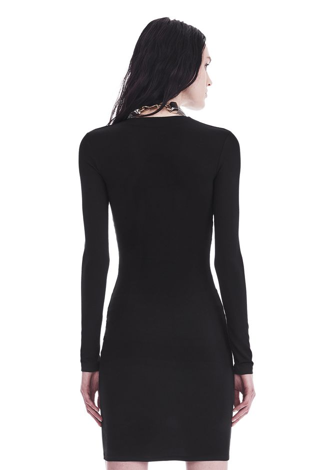 T by ALEXANDER WANG TWIST FRONT LONG SLEEVE DRESS Short dress Adult 12_n_d