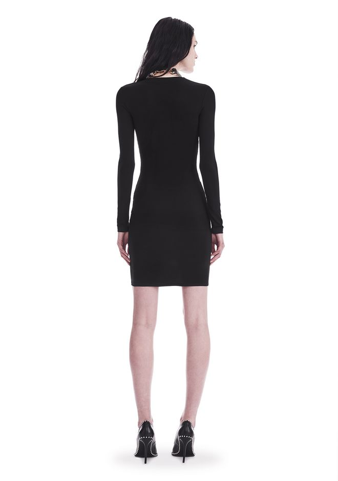 T by ALEXANDER WANG TWIST FRONT LONG SLEEVE DRESS Short dress Adult 12_n_r