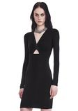 T by ALEXANDER WANG TWIST FRONT LONG SLEEVE DRESS Short dress Adult 8_n_a