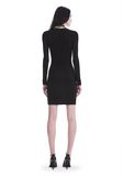 T by ALEXANDER WANG TWIST FRONT LONG SLEEVE DRESS Short dress Adult 8_n_r
