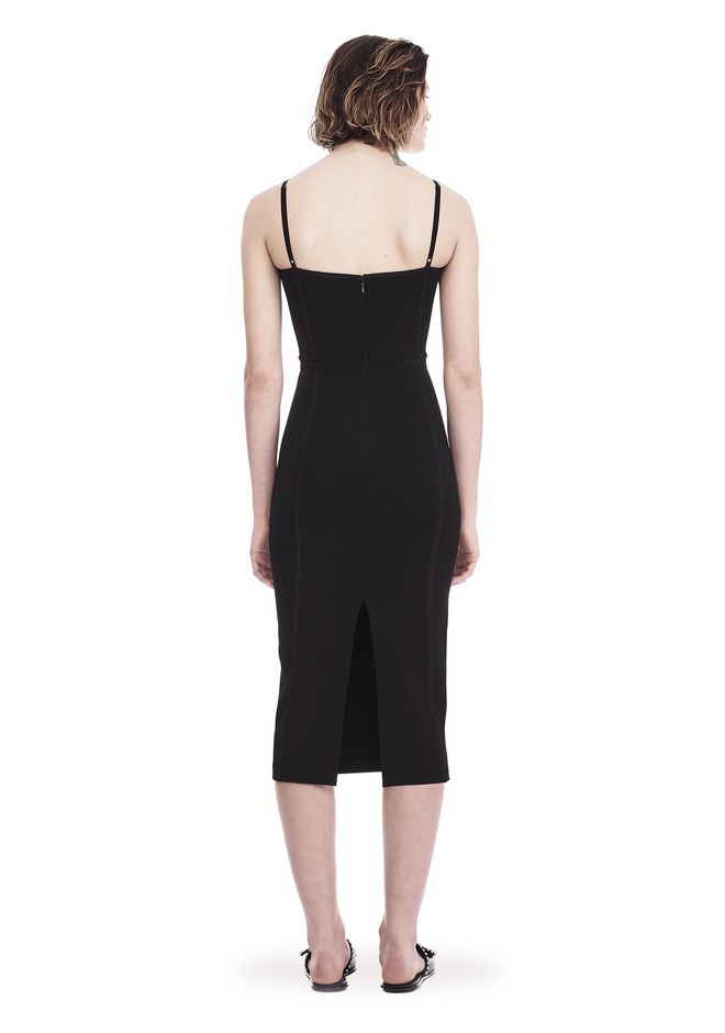 T by ALEXANDER WANG SLEEVELESS FITTED MIDI DRESS 3/4 length dress Adult 12_n_r