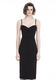 T by ALEXANDER WANG SLEEVELESS FITTED MIDI DRESS 3/4 length dress Adult 8_n_e
