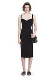 T by ALEXANDER WANG SLEEVELESS FITTED MIDI DRESS 3/4 length dress Adult 8_n_f