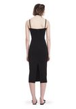 T by ALEXANDER WANG SLEEVELESS FITTED MIDI DRESS 3/4 length dress Adult 8_n_r
