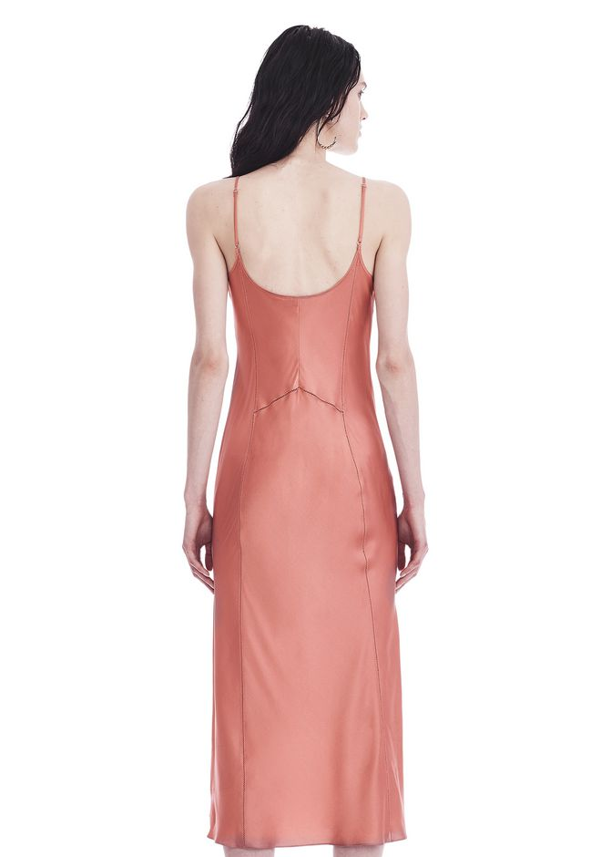 T by ALEXANDER WANG SILK CHARMEUSE SLIP DRESS 3/4 length dress Adult 12_n_d