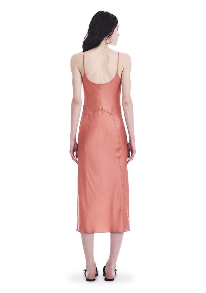 T by ALEXANDER WANG SILK CHARMEUSE SLIP DRESS 3/4 length dress Adult 12_n_r