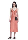 T by ALEXANDER WANG SILK CHARMEUSE SLIP DRESS 3/4 length dress Adult 8_n_f
