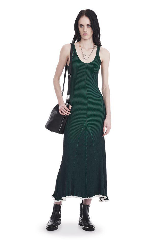 Green T-Length Dress