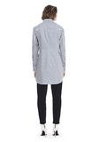 T by ALEXANDER WANG STRIPED LONG SLEEVE FRONT TIE COLLARED DRESS 3/4 length dress Adult 8_n_r