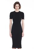ALEXANDER WANG RIBBED TEE DRESS WITH RUFFLED BALL CHAIN HEMS 3/4 length dress Adult 8_n_e