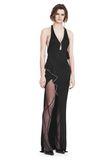 ALEXANDER WANG GOWN WITH ASYMMETRIC BALL CHAIN FLOUNCE 长款连衣裙 Adult 8_n_e