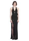 ALEXANDER WANG GOWN WITH ASYMMETRIC BALL CHAIN FLOUNCE 长款连衣裙 Adult 8_n_f