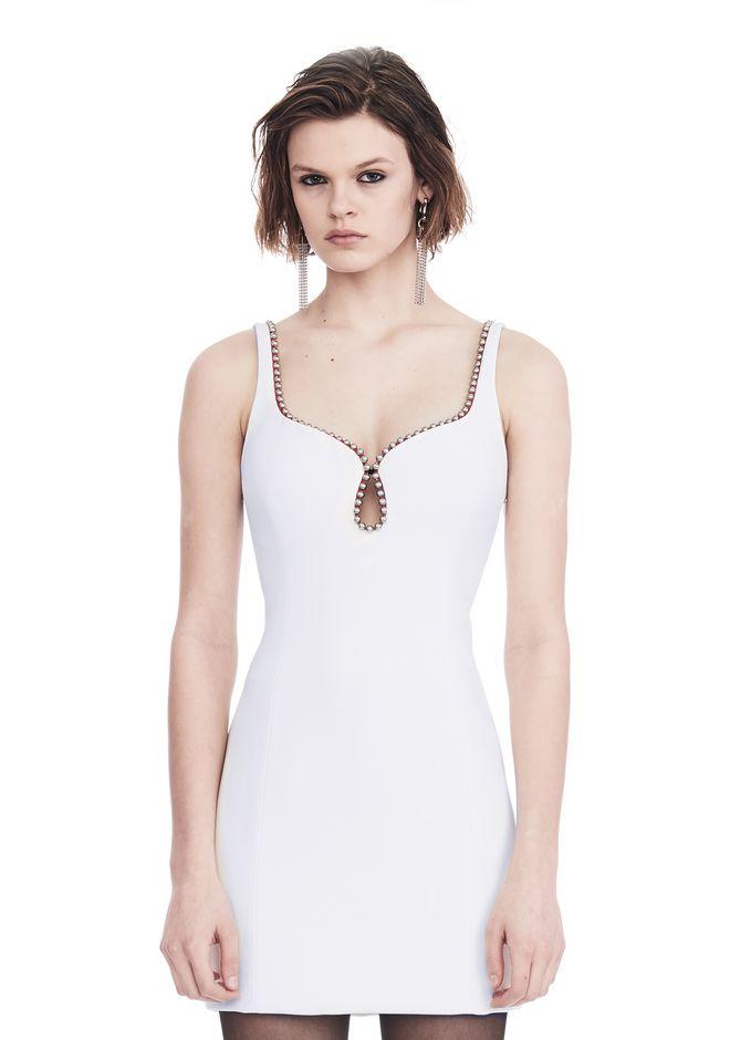 ALEXANDER WANG EXCLUSIVE SHEATH DRESS WITH BALL CHAIN NECKLINE 短款连衣裙 Adult 12_n_e