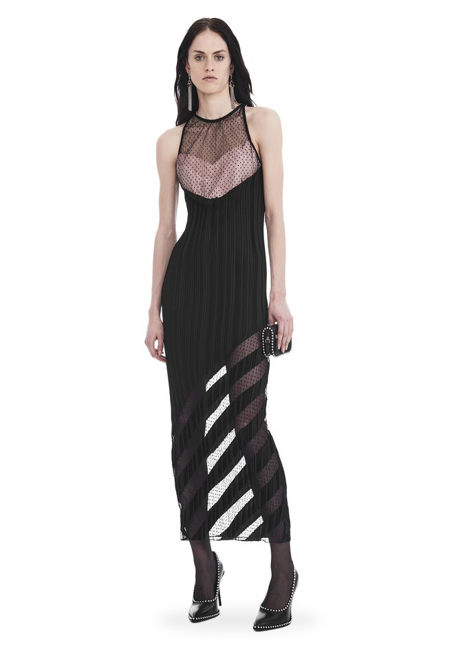 ALEXANDER WANG 3/4 Length dresses Women PLEATED SLEEVELESS PANELED GOWN
