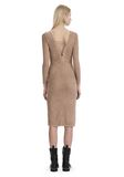 T by ALEXANDER WANG STRETCH FAUX SUEDE LONG SLEEVE LACE-UP MIDI DRESS 短款连衣裙 Adult 8_n_r