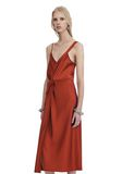 T by ALEXANDER WANG SATIN SLEEVELESS KNOT FRONT DRESS Short dress Adult 8_n_a