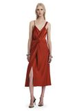 T by ALEXANDER WANG SATIN SLEEVELESS KNOT FRONT DRESS Short Dress Adult 8_n_f
