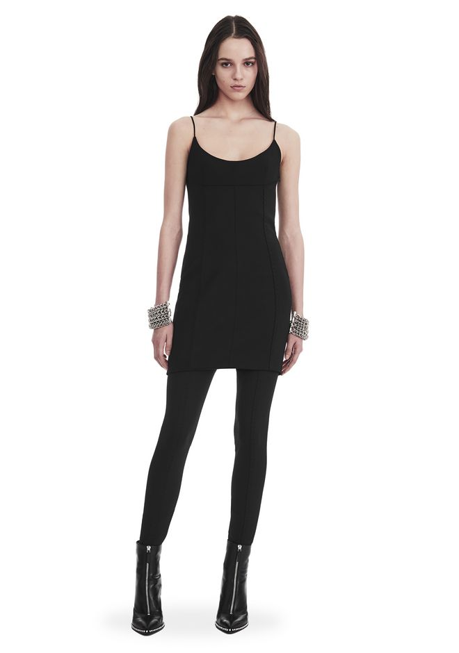 ALEXANDER WANG slrtwdr TAILORED MINI DRESS WITH  BARTACK DETAIL