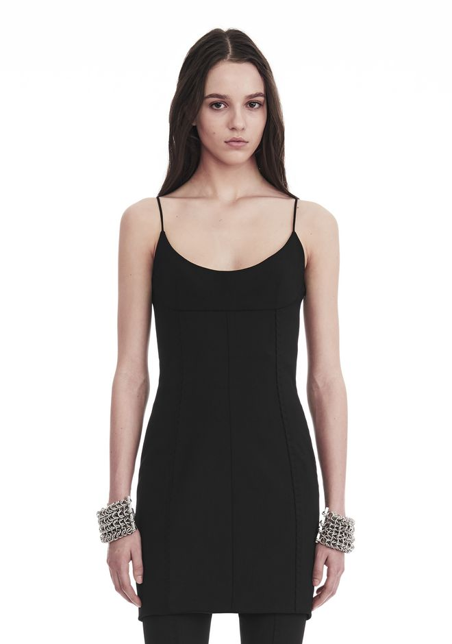 ALEXANDER WANG TAILORED MINI DRESS WITH  BARTACK DETAIL Short dress Adult 12_n_e