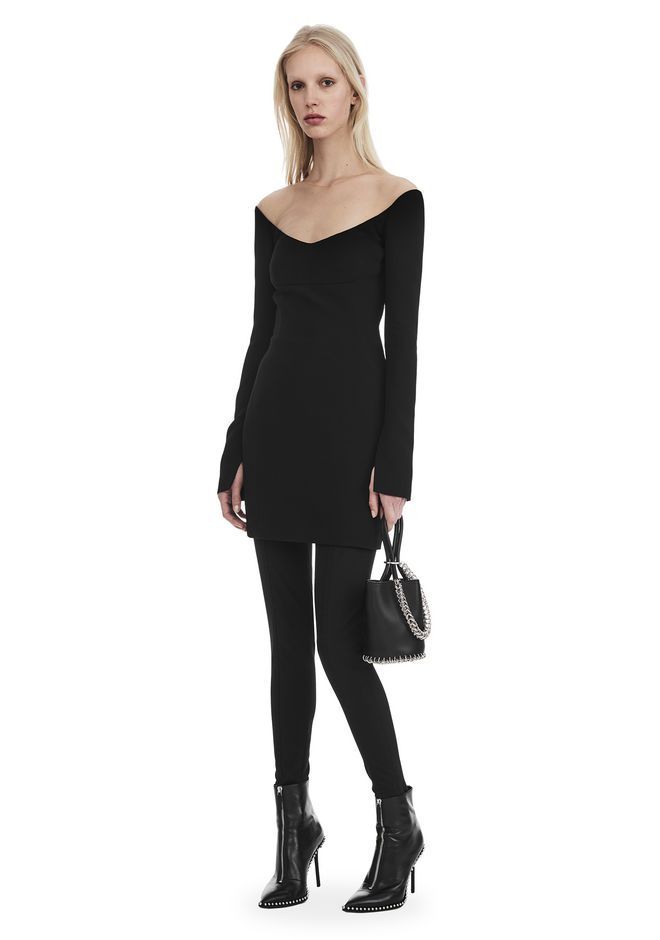 ALEXANDER WANG nwarclltsw WIDE SCOOP NECK MINI DRESS