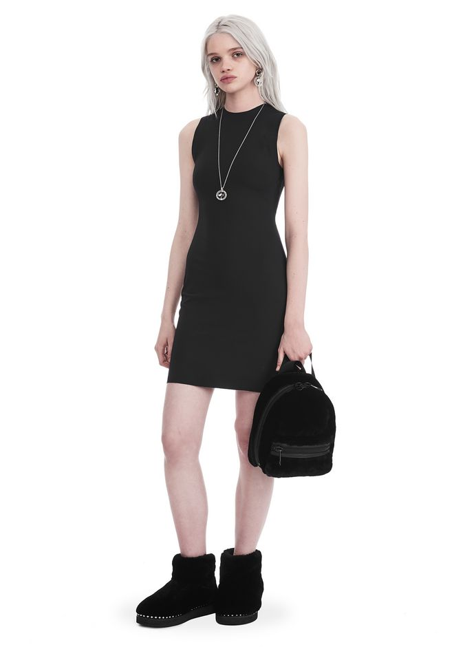 T by ALEXANDER WANG sltbdr COMPACT STRETCH MINI DRESS