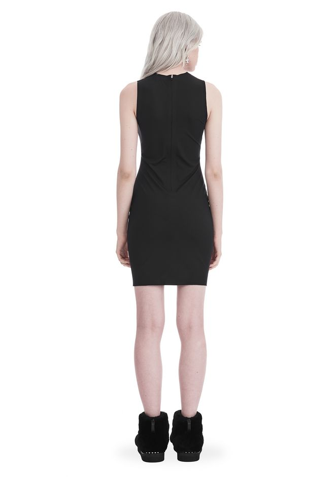 T by ALEXANDER WANG COMPACT STRETCH MINI DRESS Short dress Adult 12_n_r