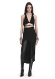ALEXANDER WANG HALTER WRAP DRESS WITH BALL CHAIN Long dress Adult 8_n_f