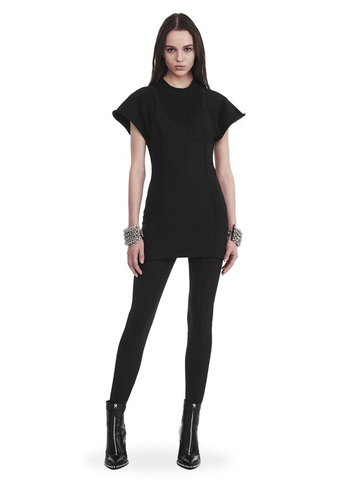 ALEXANDER WANG slrtwdr HYBRID SWEATSHIRT MINI DRESS