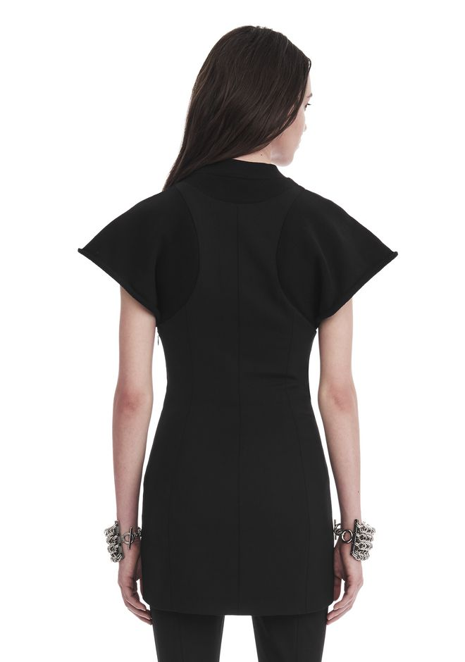 ALEXANDER WANG HYBRID SWEATSHIRT MINI DRESS Short dress Adult 12_n_d